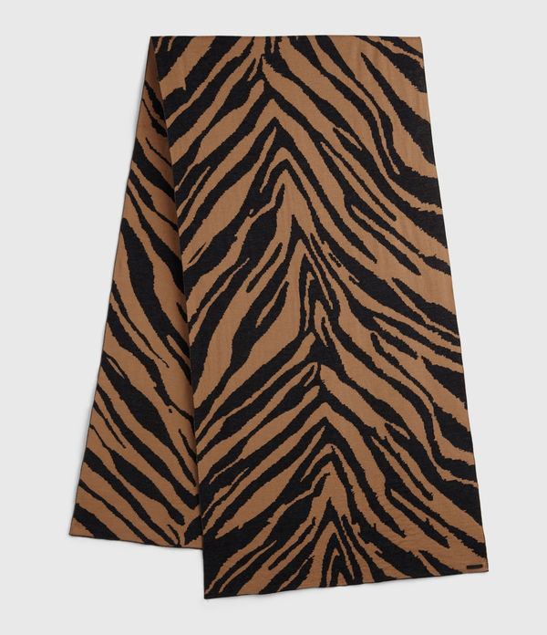 Zebra Jacquard Merino Wool Scarf