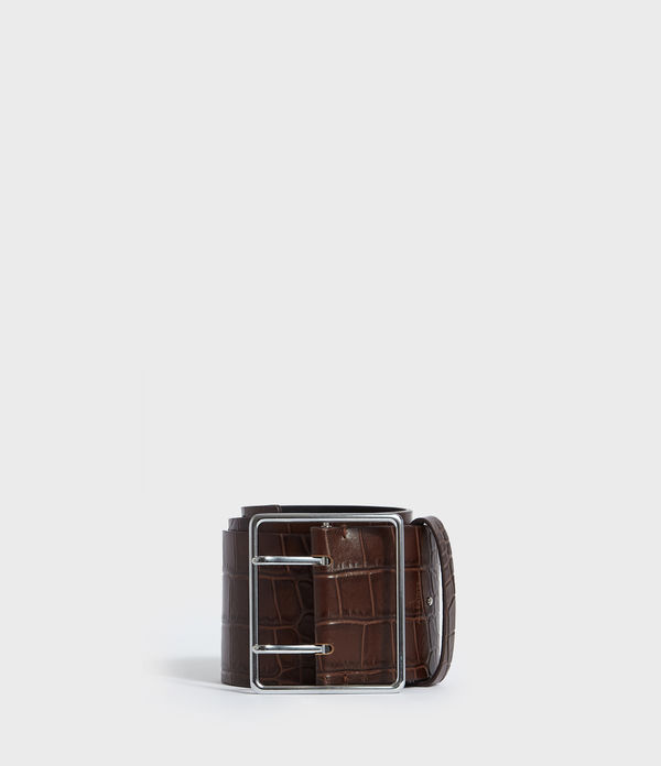 Aline Crocodile Leather Belt