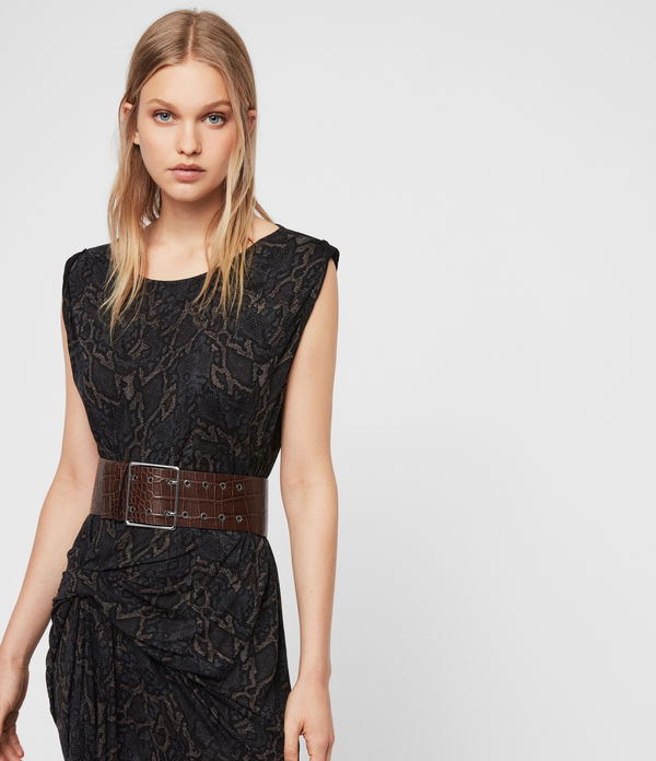 Aline Crocodile Leather Belt