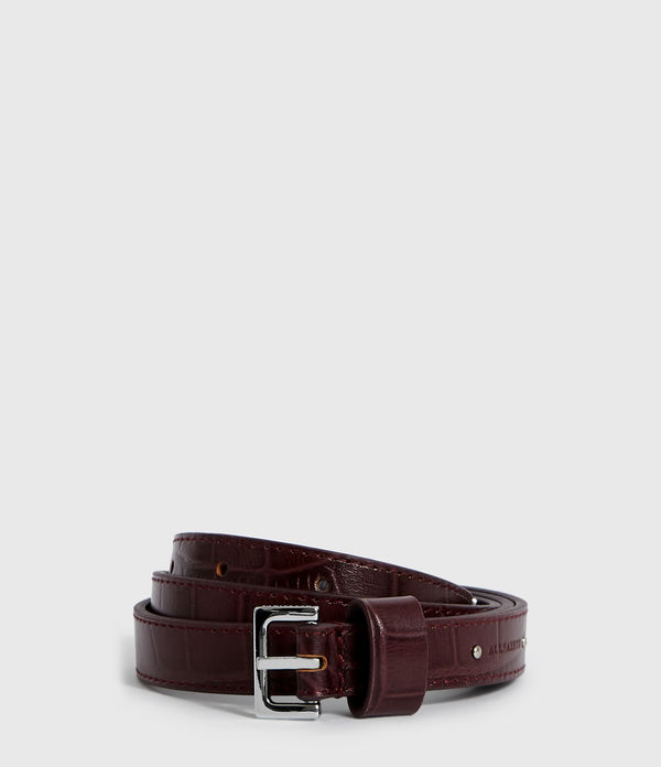 Pipi Crocodile Leather Belt