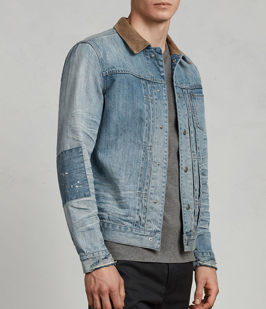 Men's Ibanez Denim Jacket (indigo) - Image 2