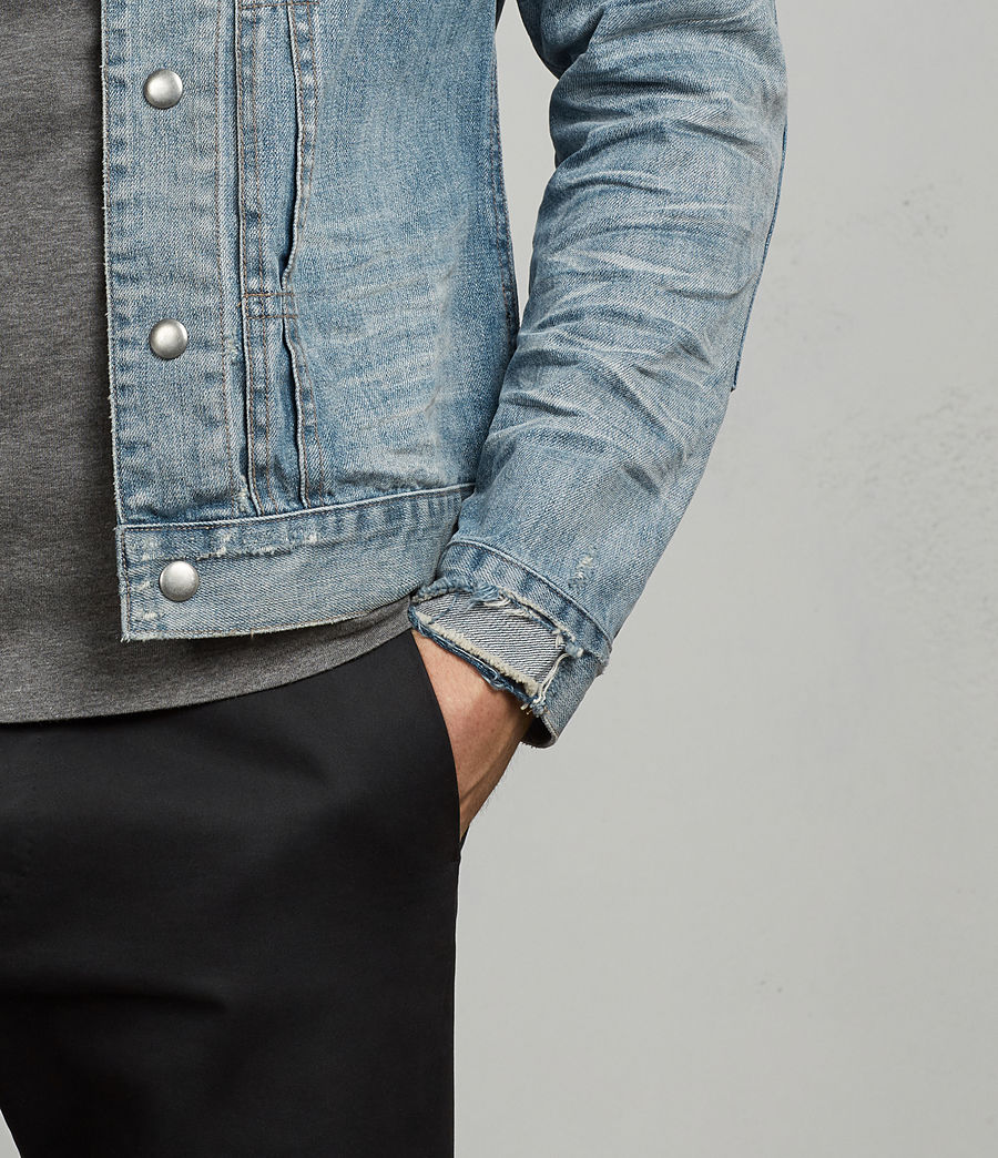 Men's Ibanez Denim Jacket (indigo) - Image 5