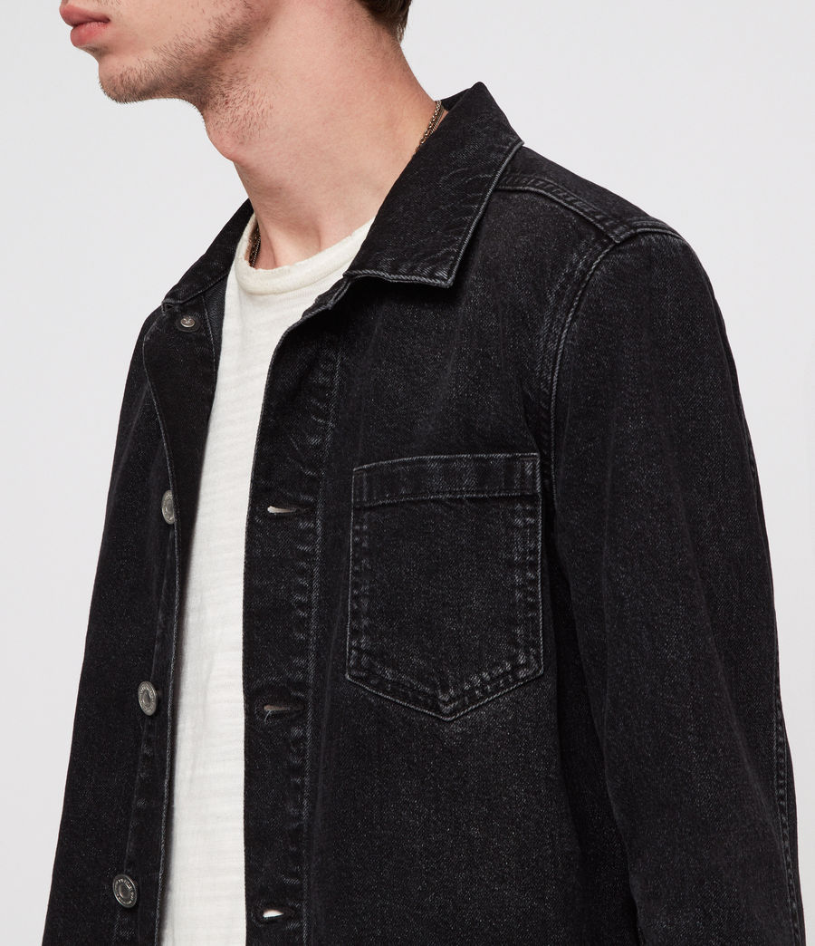Men's Bartin Denim Jacket (black) - Image 2