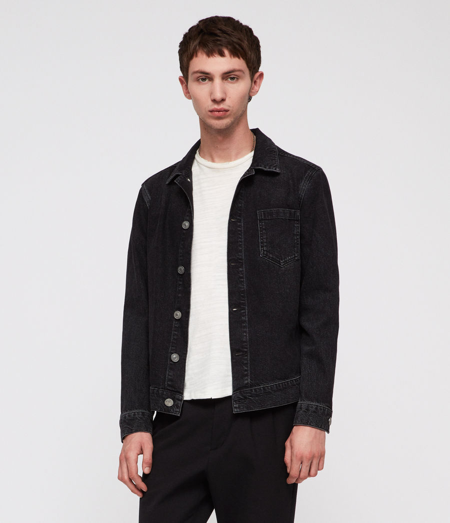 Men's Bartin Denim Jacket (black) - Image 3