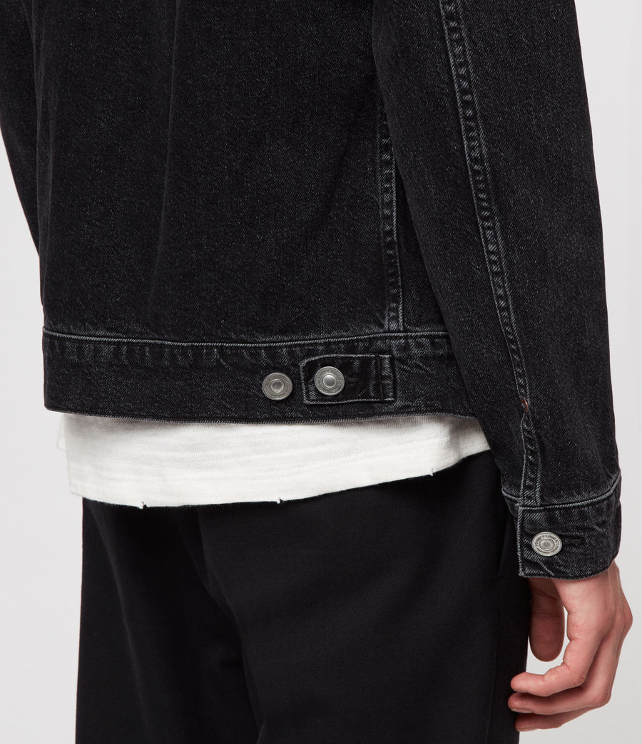 Men's Bartin Denim Jacket (black) - Image 4