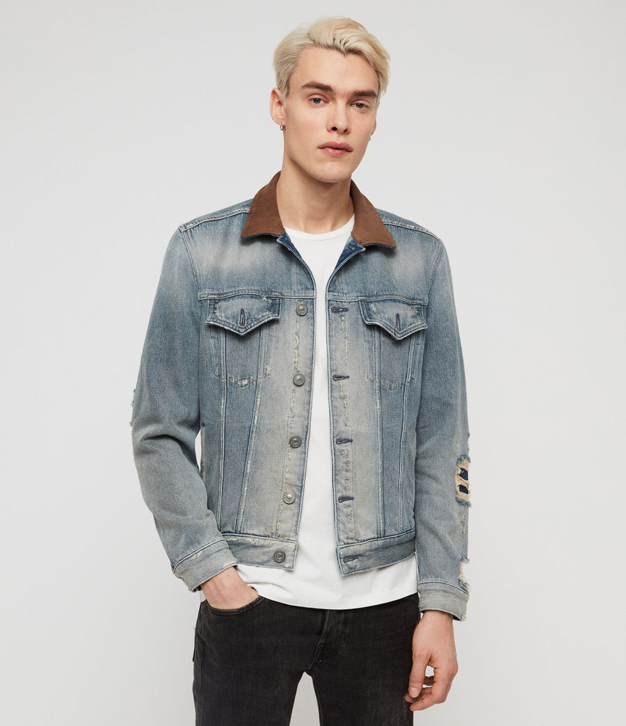Men's Iren Denim Jacket (mid_indigo_blue) - Image 1