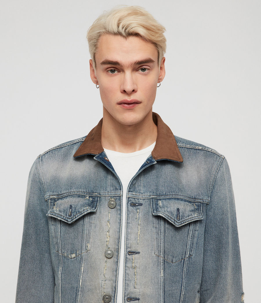Men's Iren Denim Jacket (mid_indigo_blue) - Image 2