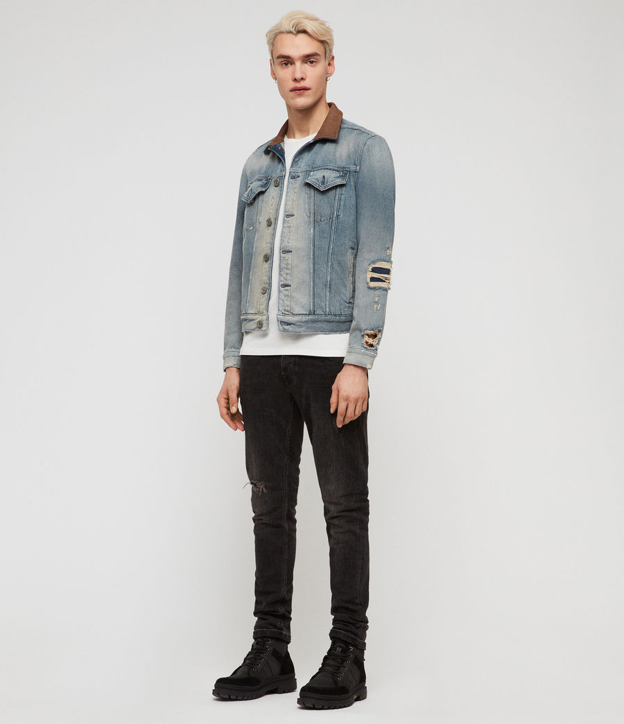 Mens Iren Denim Jacket (mid_indigo_blue) - Image 3