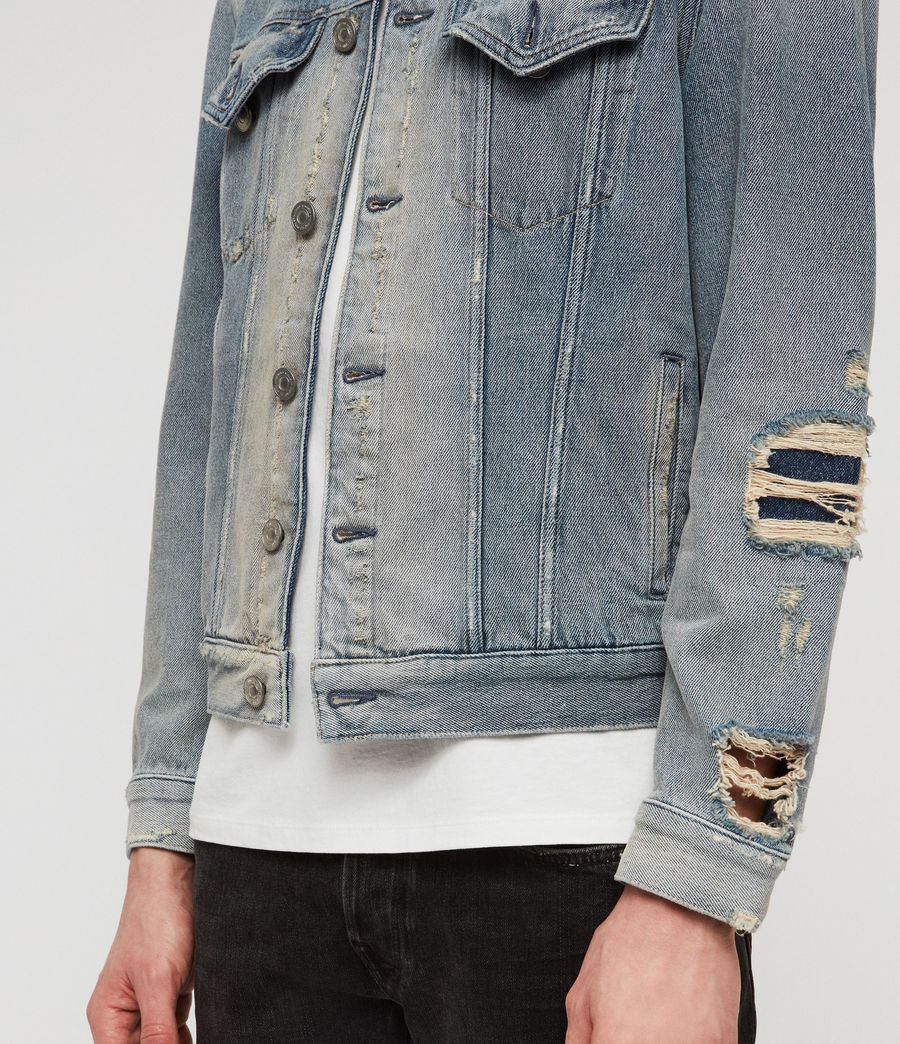 Mens Iren Denim Jacket (mid_indigo_blue) - Image 4