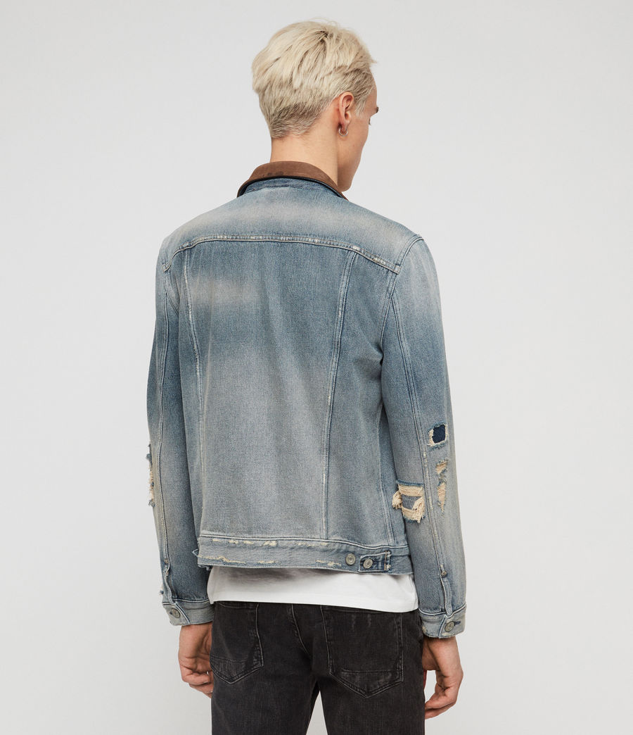 Mens Iren Denim Jacket (mid_indigo_blue) - Image 5