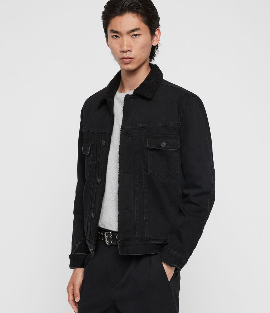 Mens Bladro Denim Jacket (black) - Image 1
