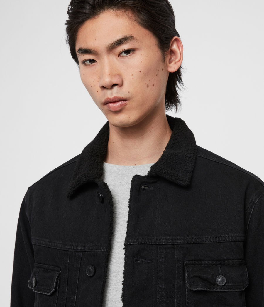 Mens Bladro Denim Jacket (black) - Image 2