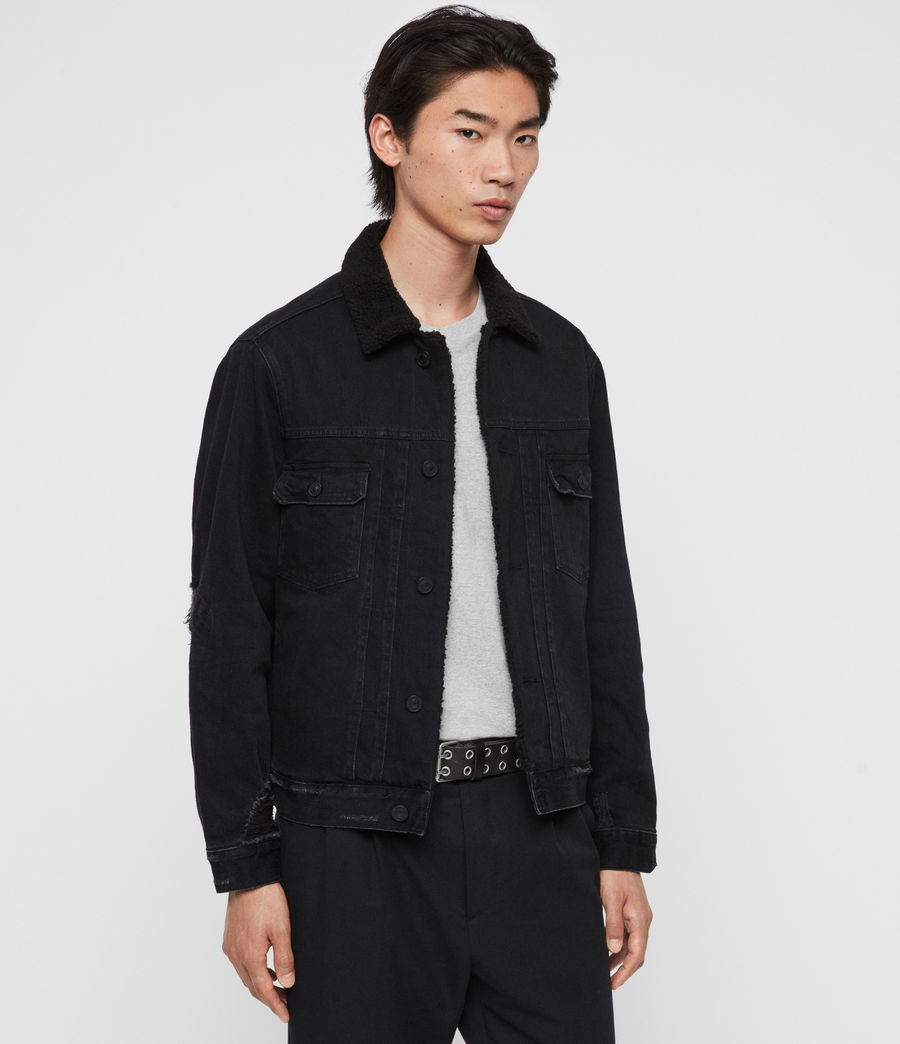 Mens Bladro Denim Jacket (black) - Image 4