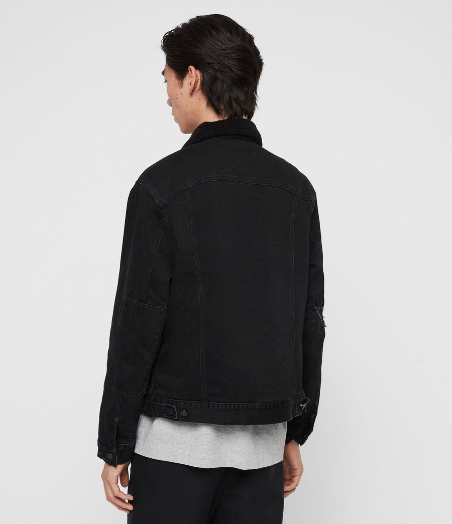 Mens Bladro Denim Jacket (black) - Image 5