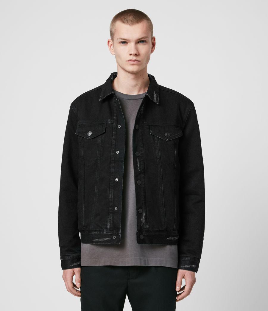 Mens Brind Reversible Denim Jacket (washed_black_black) - Image 1