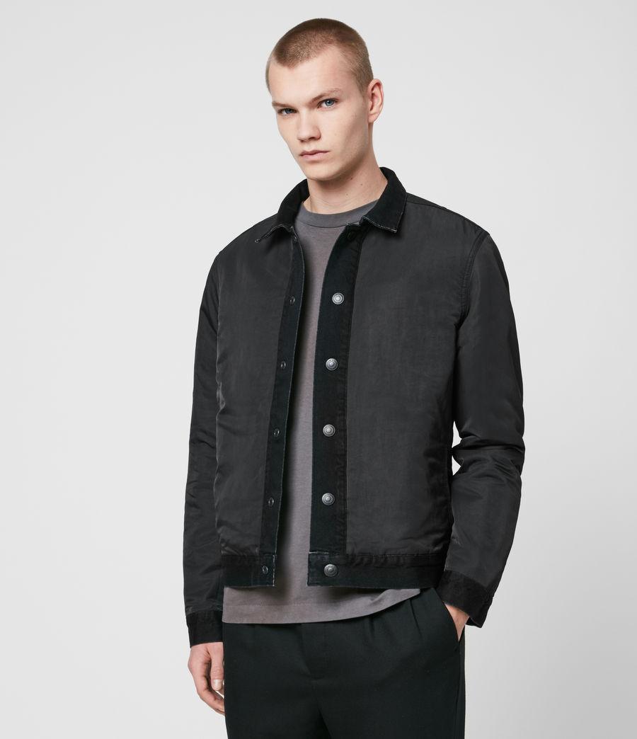 Mens Brind Reversible Denim Jacket (washed_black_black) - Image 2