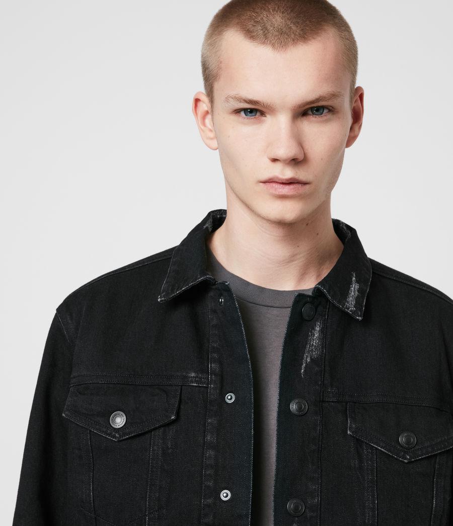 Mens Brind Reversible Denim Jacket (washed_black_black) - Image 3