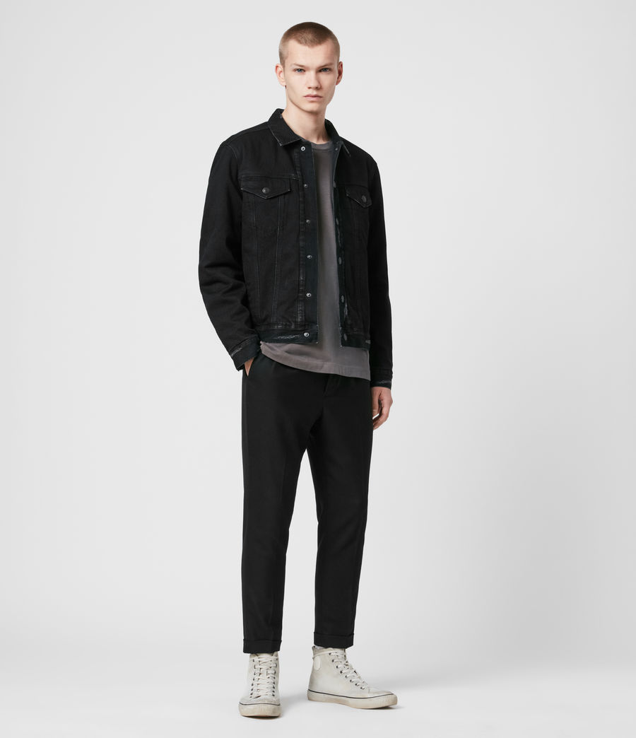 Men's Brind Reversible Denim Jacket (washed_black_black) - Image 1