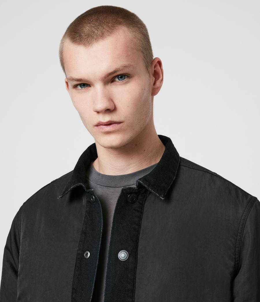 Mens Brind Reversible Denim Jacket (washed_black_black) - Image 5