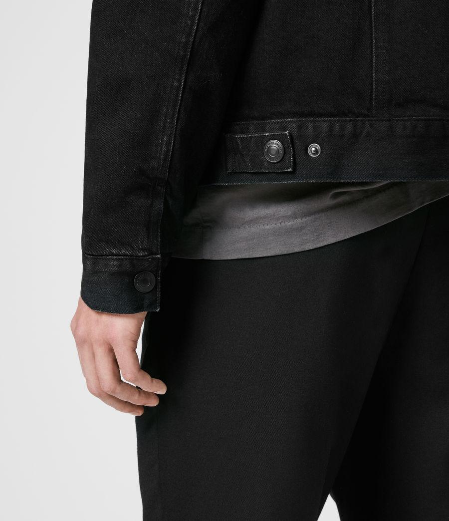 Mens Brind Reversible Denim Jacket (washed_black_black) - Image 6