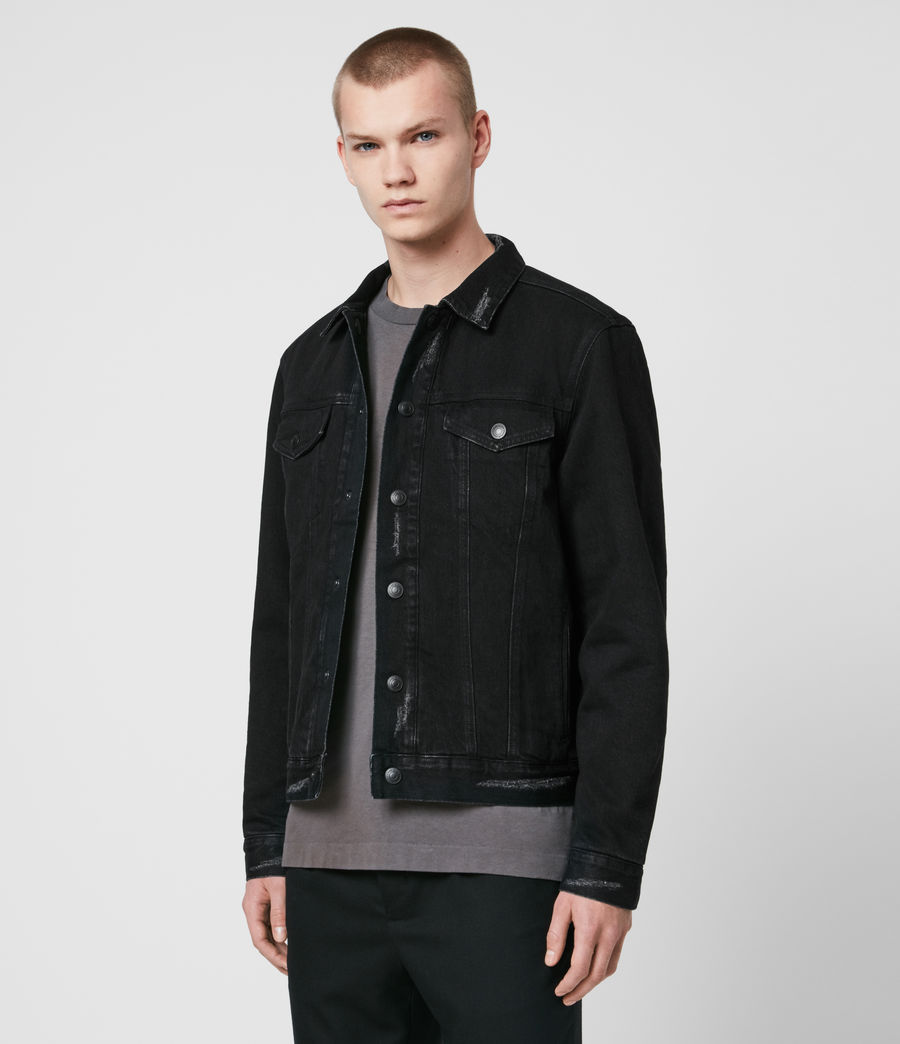 Men's Brind Reversible Denim Jacket (washed_black_black) - Image 2