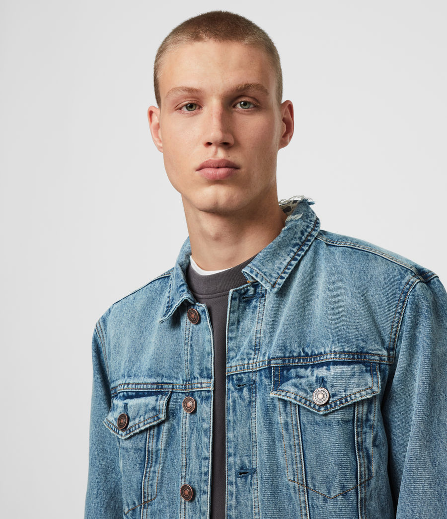 Mens Danby Denim Jacket (indigo) - Image 2