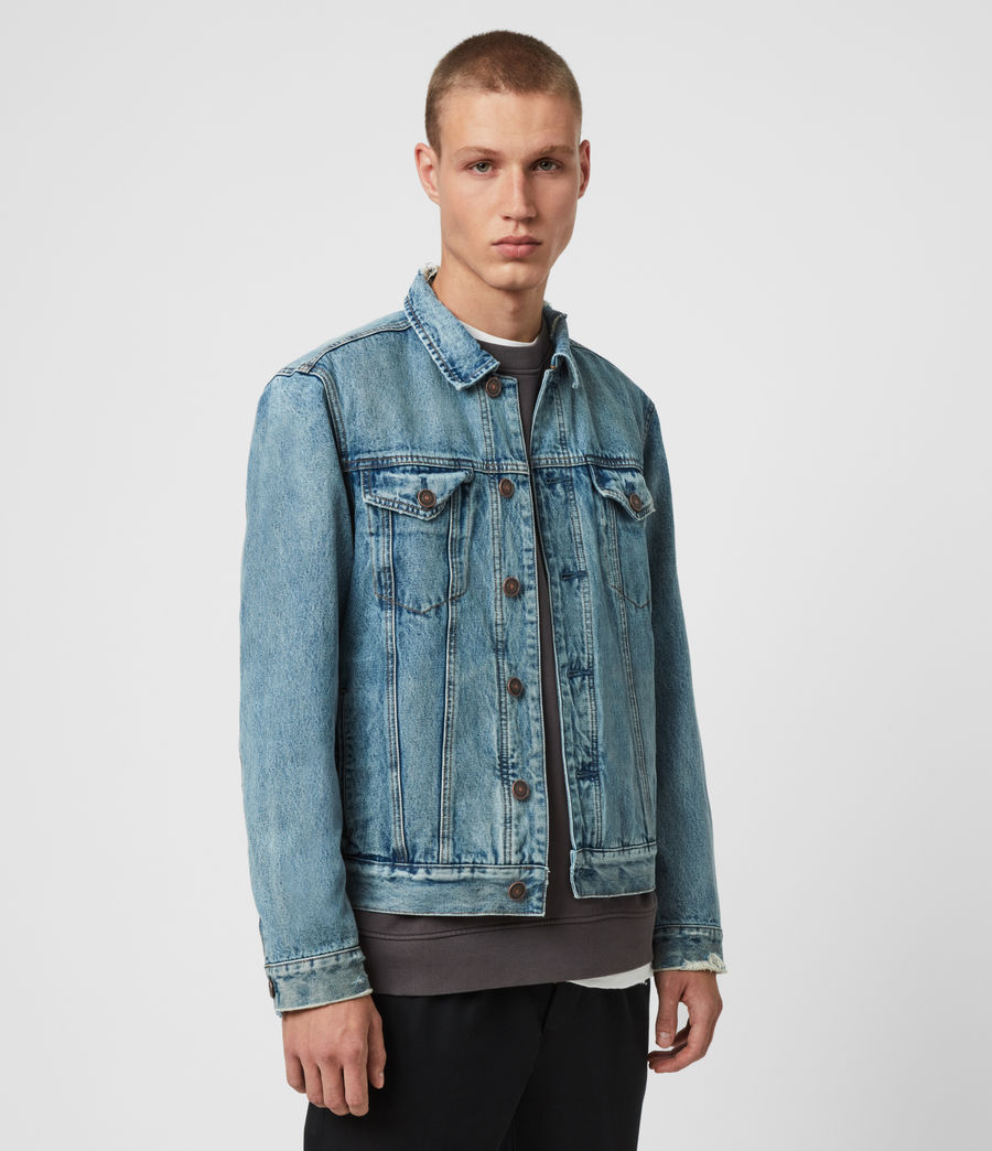 Mens Danby Denim Jacket (indigo) - Image 4