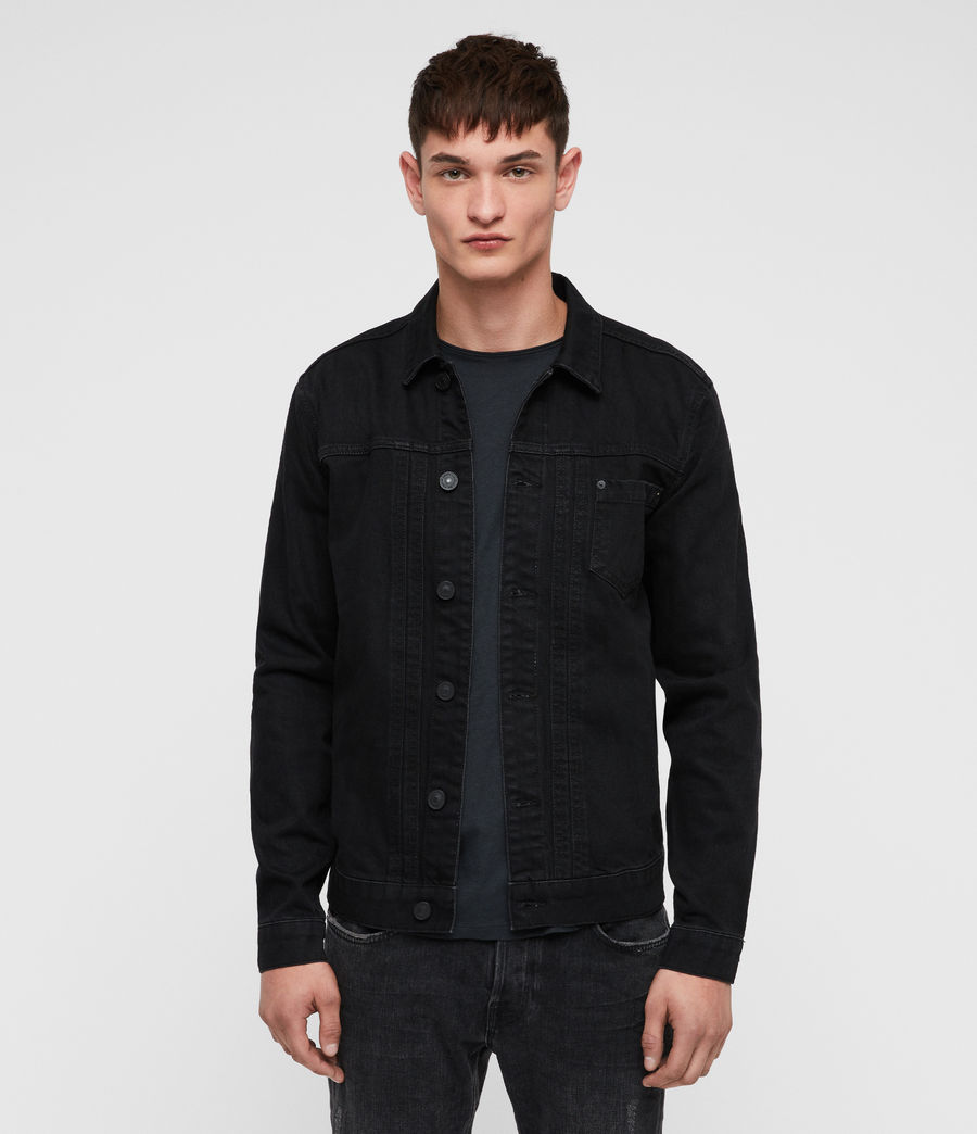 Mens Bajio Denim Jacket (black) - Image 1