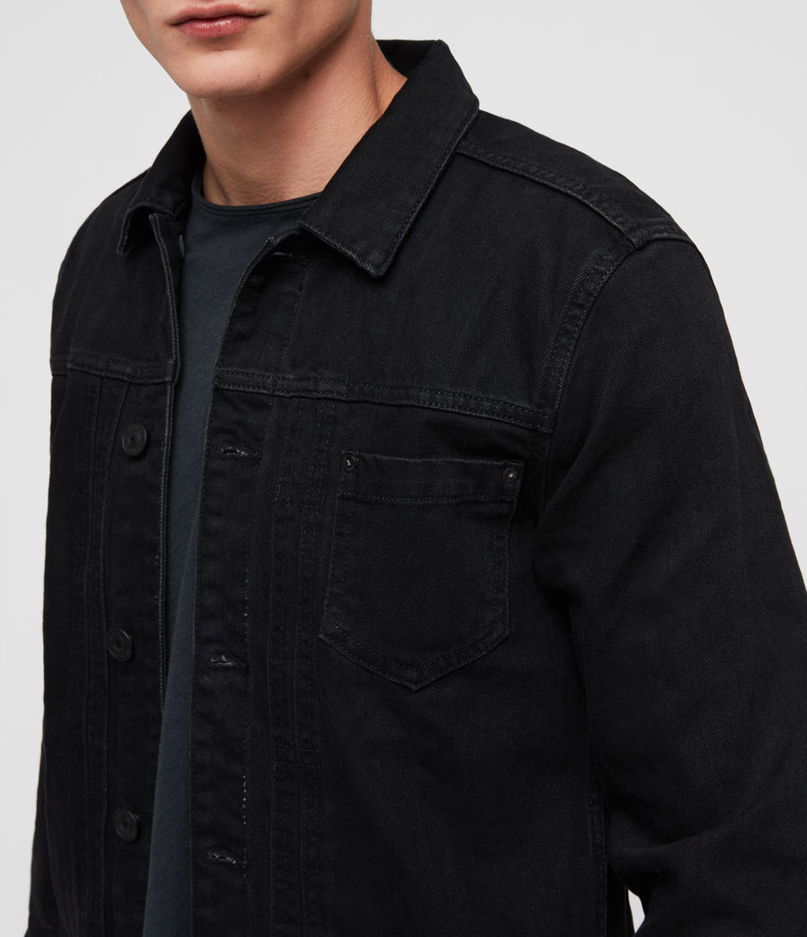 Men's Bajio Denim Jacket (black) - Image 2