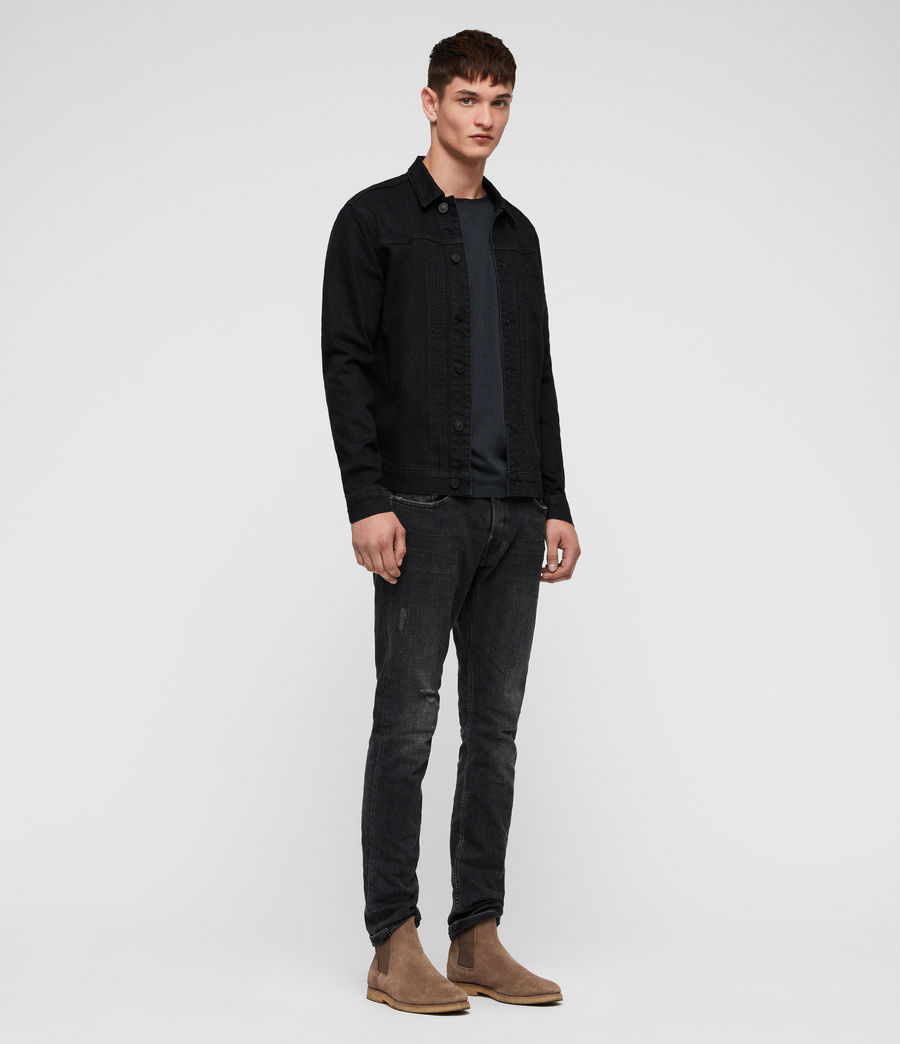 Mens Bajio Denim Jacket (black) - Image 3