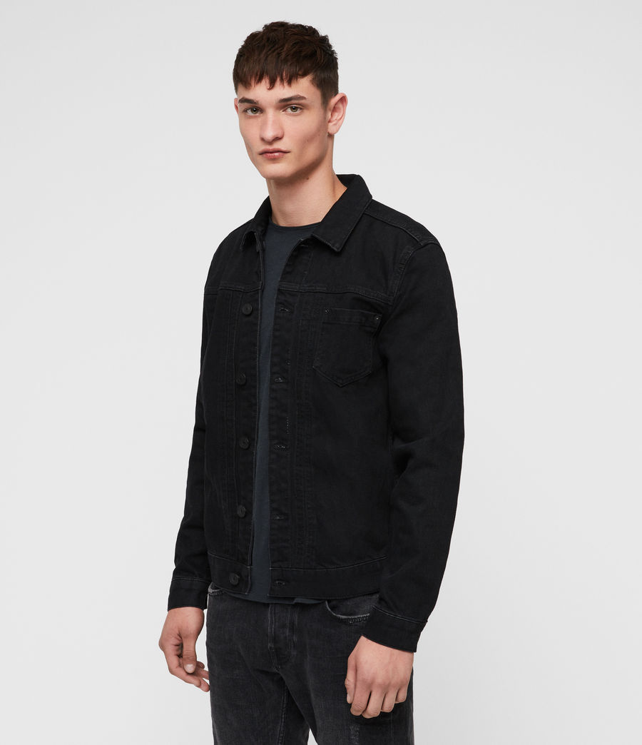 Mens Bajio Denim Jacket (black) - Image 4