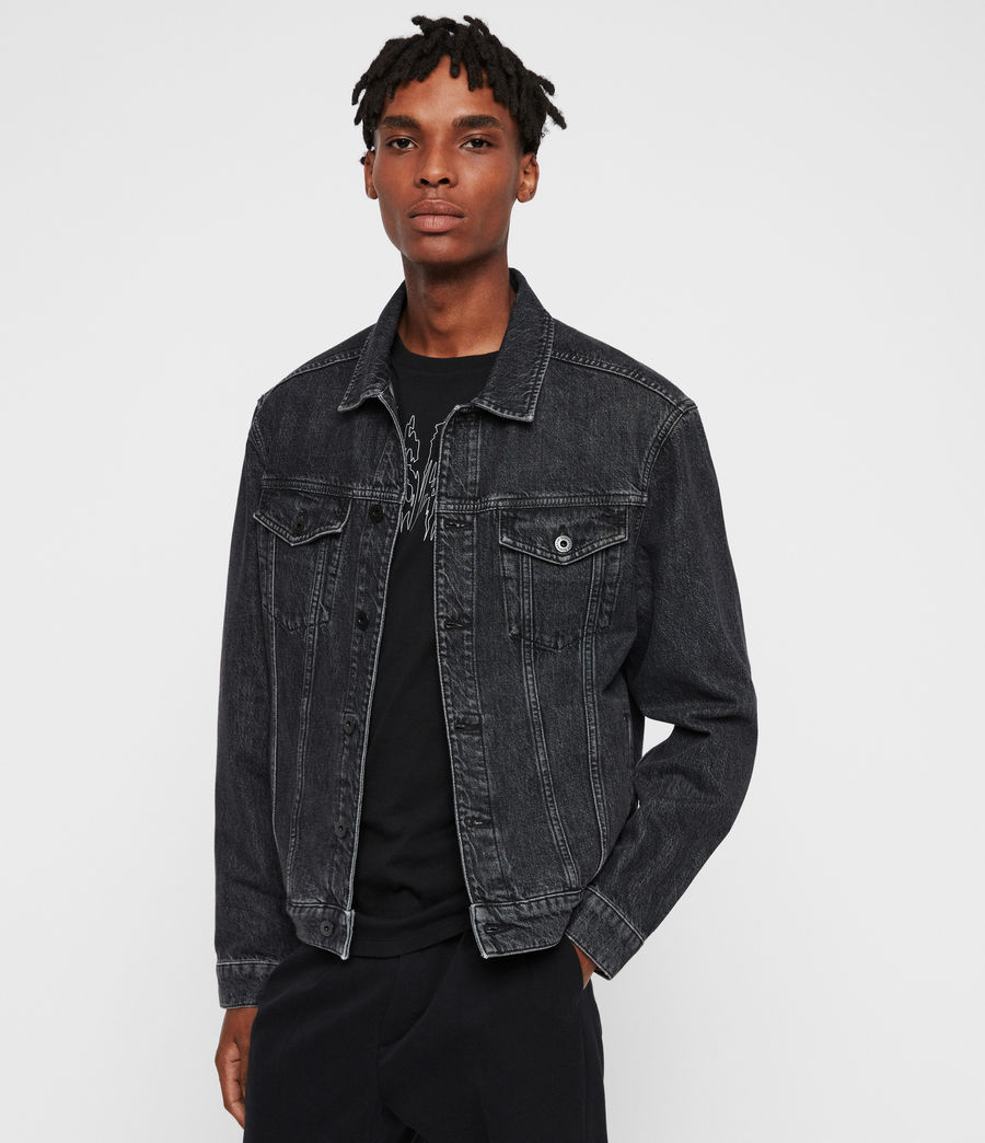 Mens Beamer Denim Jacket (black) - Image 1