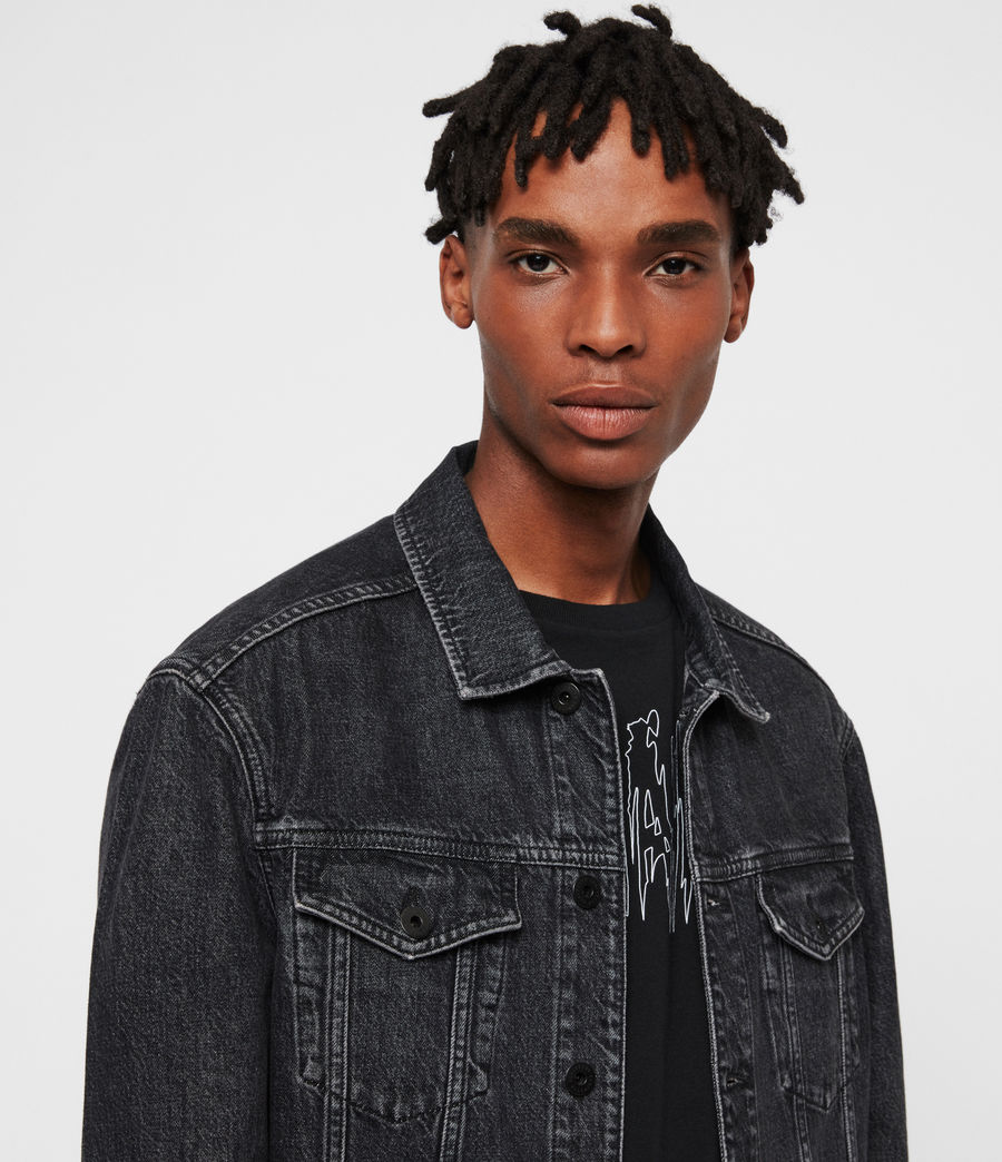 Mens Beamer Denim Jacket (black) - Image 2