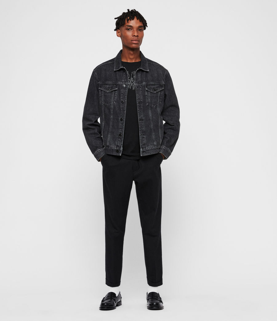 Mens Beamer Denim Jacket (black) - Image 3