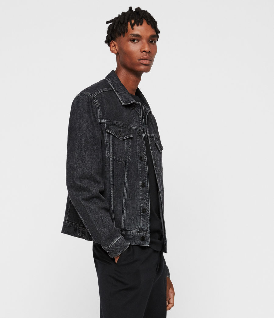 Mens Beamer Denim Jacket (black) - Image 4