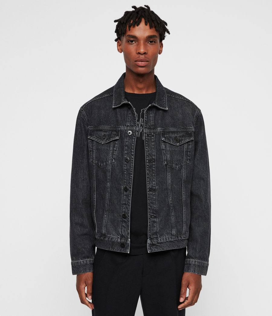 Mens Beamer Denim Jacket (black) - Image 5