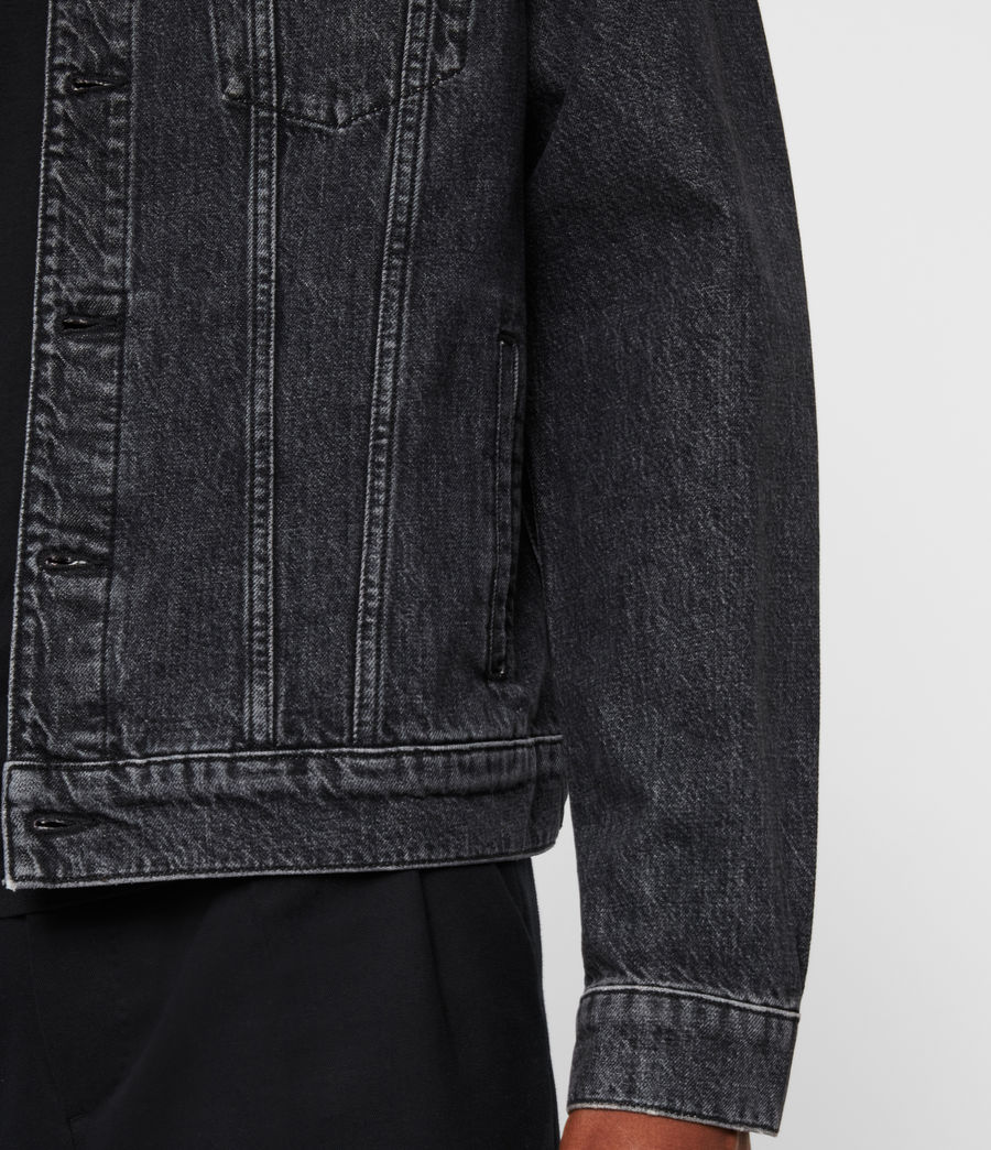 Mens Beamer Denim Jacket (black) - Image 6