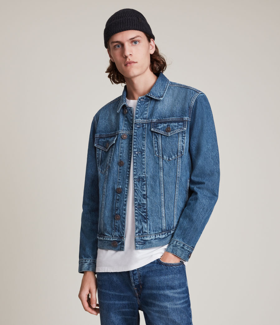 Men's Kirkby Denim Jacket (dark_indigo) - Image 4