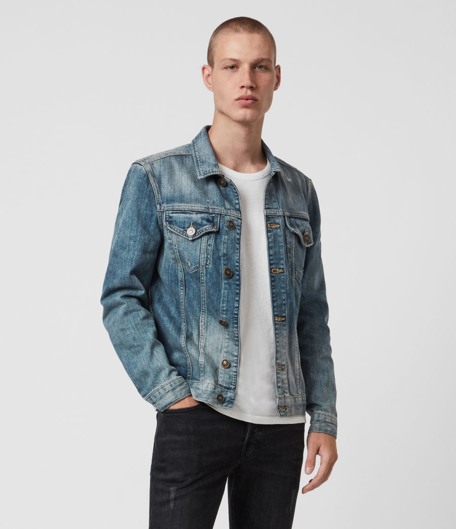 Mens Inverness Denim Jacket (indigo) - Image 1