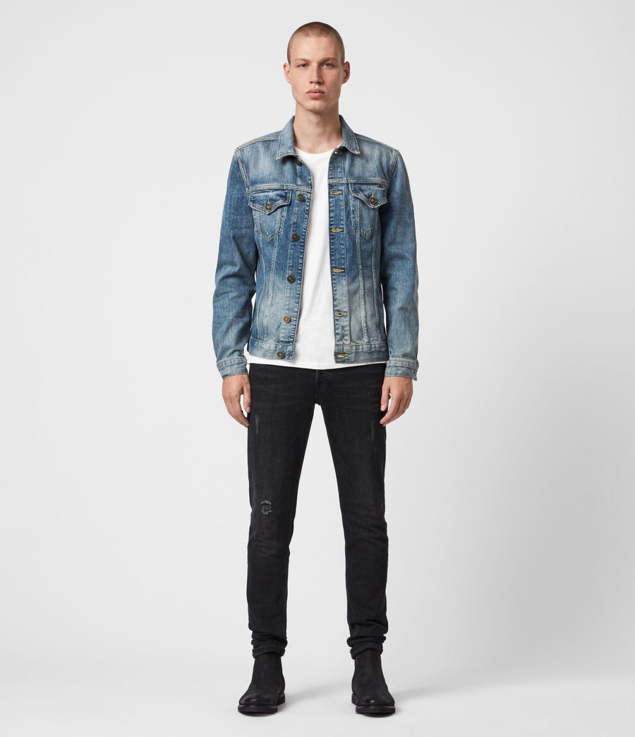 Men's Inverness Denim Jacket (indigo) - Image 4