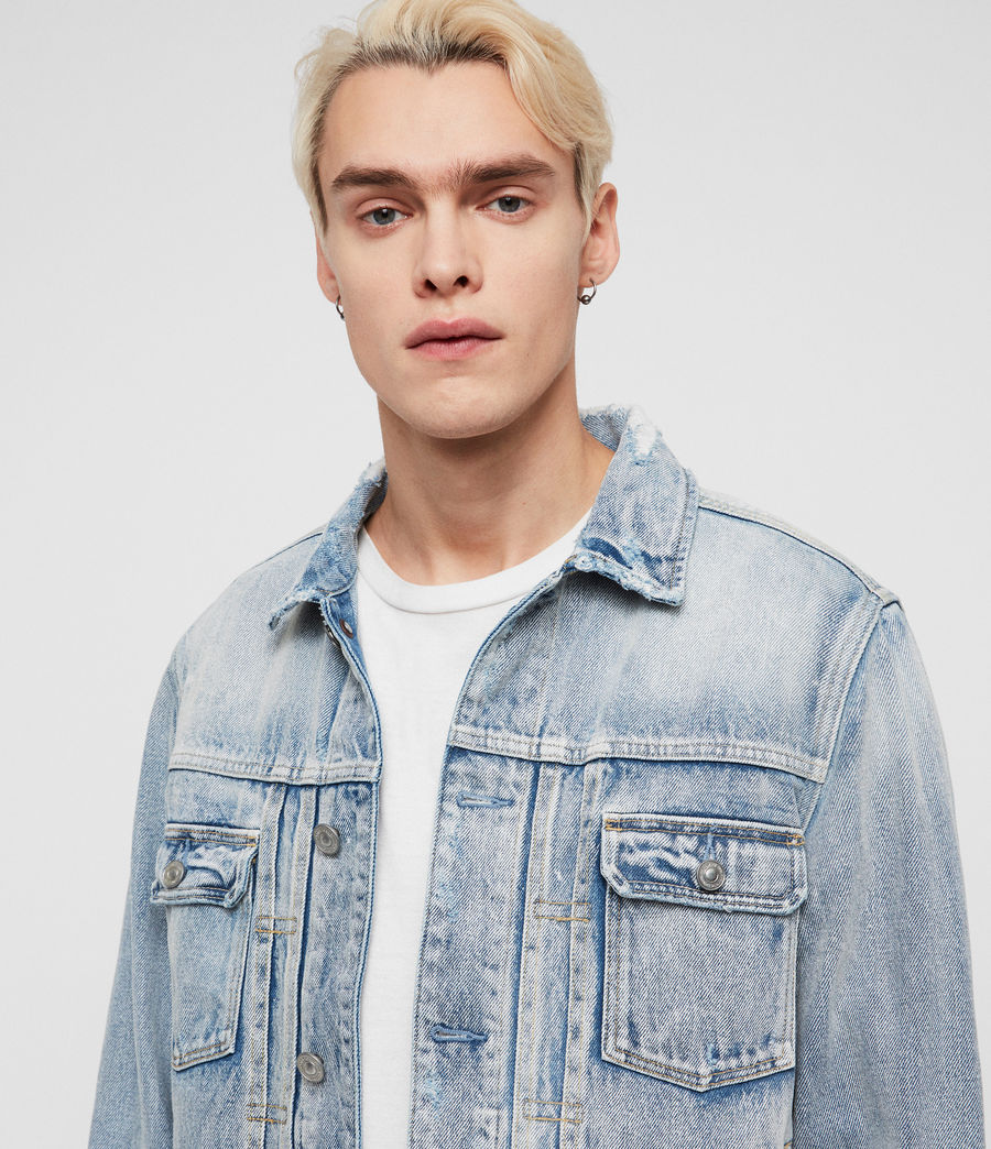 Men's Imoku Denim Jacket (light_indigo_blue) - Image 2
