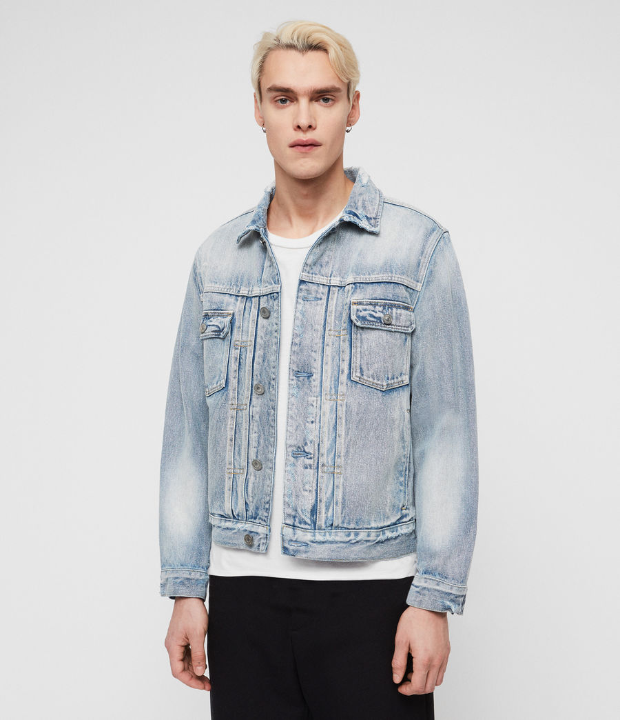 Men's Imoku Denim Jacket (light_indigo_blue) - Image 3