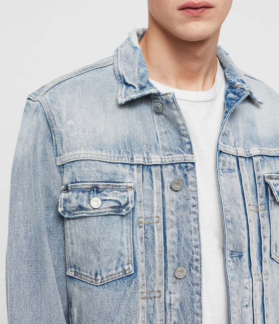 Men's Imoku Denim Jacket (light_indigo_blue) - Image 4