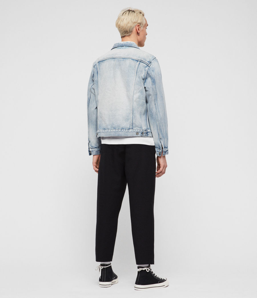 Men's Imoku Denim Jacket (light_indigo_blue) - Image 5