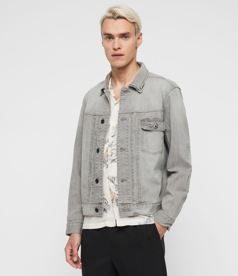Mens Gasidro Denim Jacket (grey) - Image 1