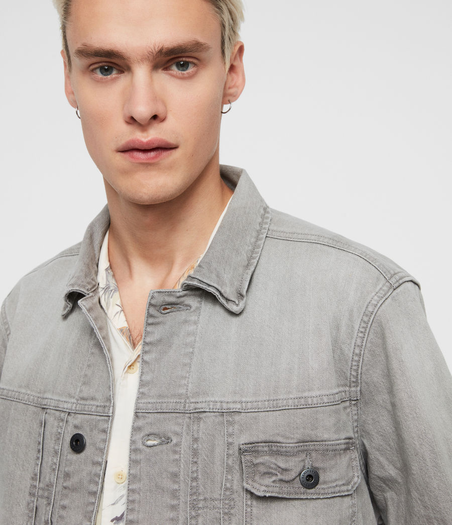 Mens Gasidro Denim Jacket (grey) - Image 2