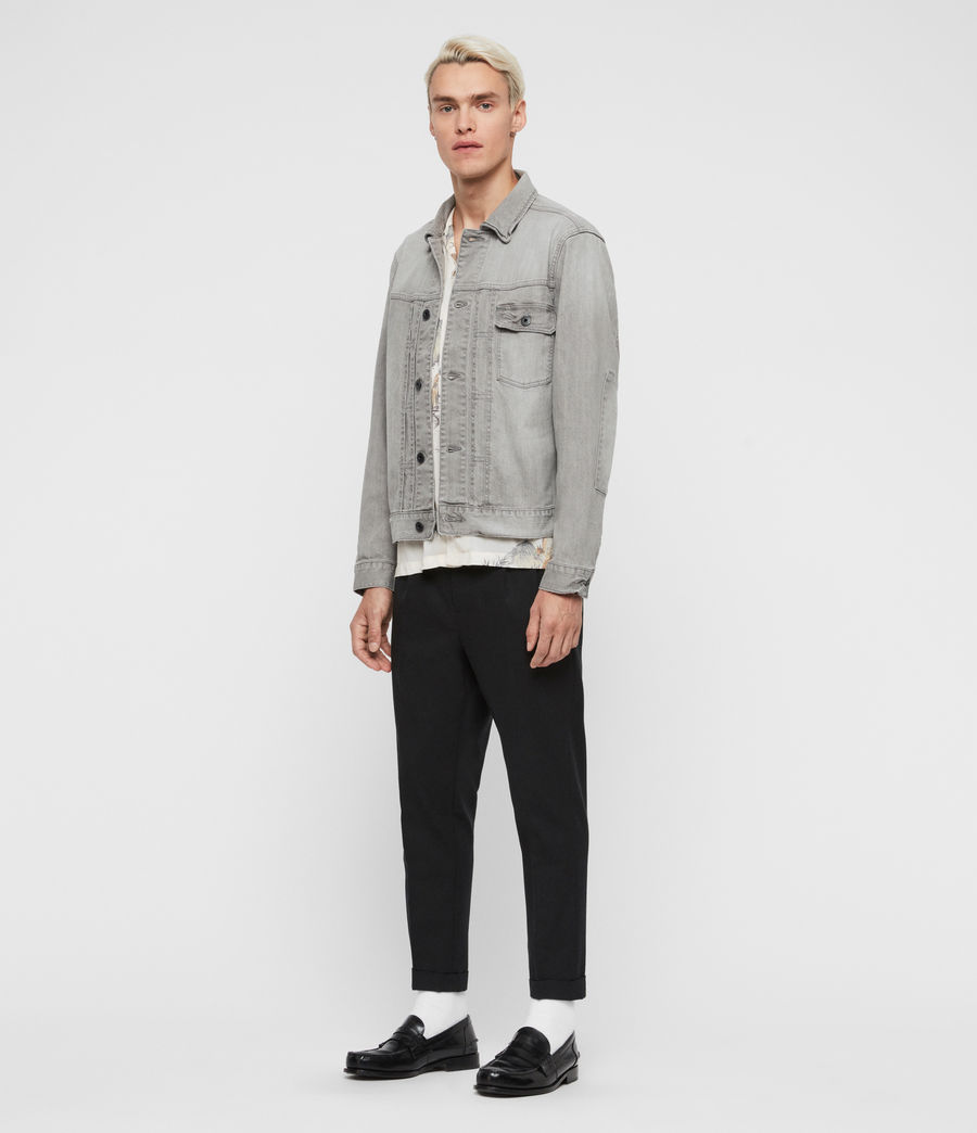 Mens Gasidro Denim Jacket (grey) - Image 4