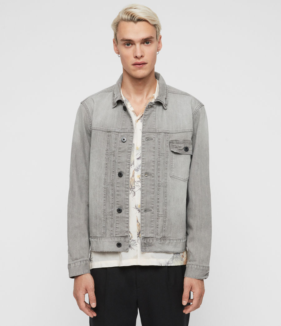 Mens Gasidro Denim Jacket (grey) - Image 5