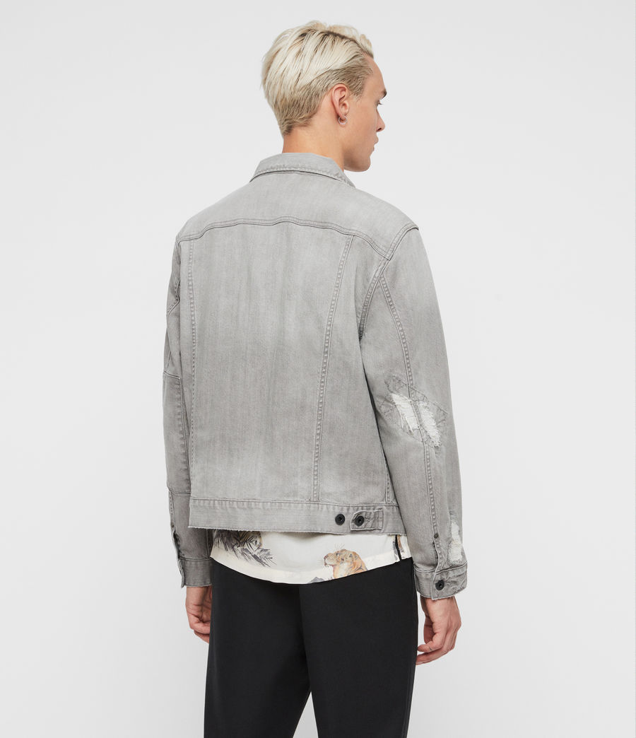 Mens Gasidro Denim Jacket (grey) - Image 6