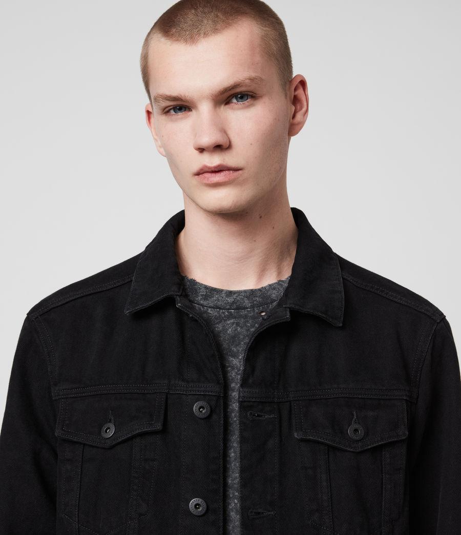 Men's Burnby Denim Jacket (black) - Image 2